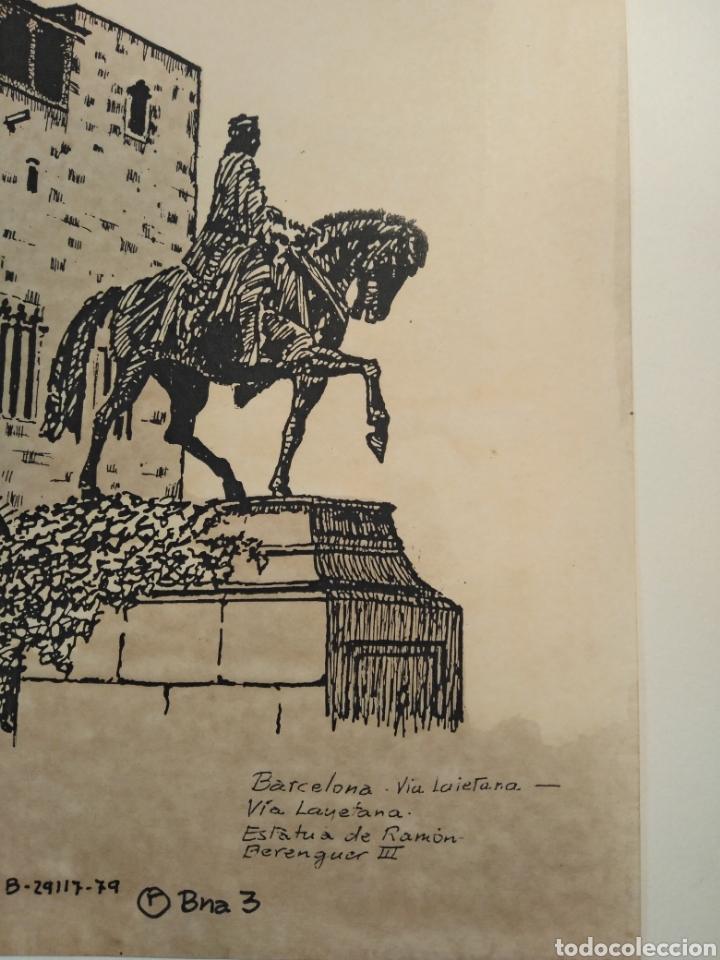Arte: LOTE DE 9 GRABADOS BARCELONA SIGLO XIX .ALGUNOS FIRMADOS Y COLOREADOS A MANO - Foto 31 - 135713459