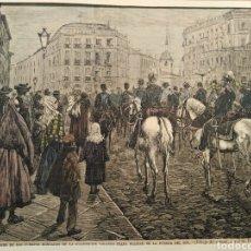 Arte: LOTE DE 9 GRABADOS BARCELONA SIGLO XIX .ALGUNOS FIRMADOS Y COLOREADOS A MANO. Lote 135713459