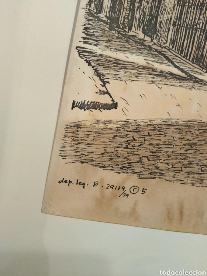 Arte: LOTE DE 9 GRABADOS BARCELONA SIGLO XIX .ALGUNOS FIRMADOS Y COLOREADOS A MANO - Foto 37 - 135713459