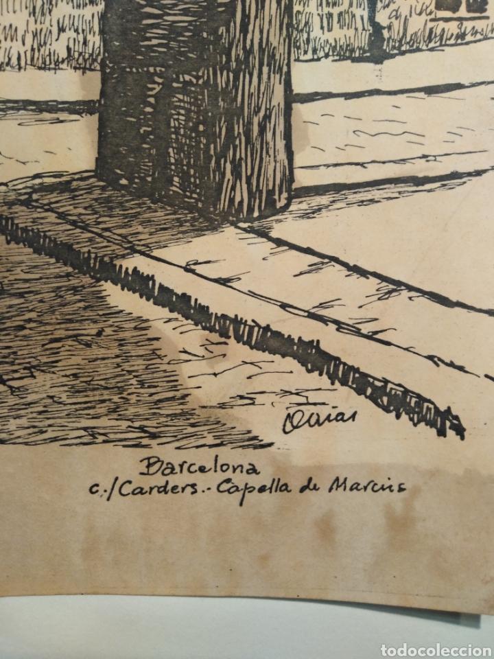 Arte: LOTE DE 9 GRABADOS BARCELONA SIGLO XIX .ALGUNOS FIRMADOS Y COLOREADOS A MANO - Foto 38 - 135713459