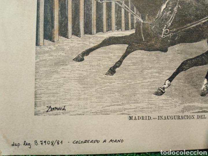 Arte: LOTE DE 9 GRABADOS BARCELONA SIGLO XIX .ALGUNOS FIRMADOS Y COLOREADOS A MANO - Foto 42 - 135713459