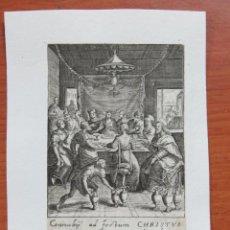 Arte: GRABADO AL COBRE POR MARCUS SADELER (1614-1660) SOBRE PAPEL HECHO A MANO DE 1640 TEMA RELIGIOSO. Lote 135781562