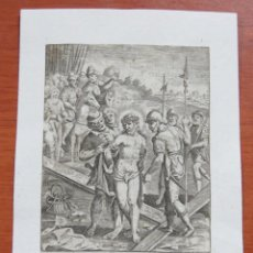 Arte: GRABADO AL COBRE POR MARCUS SADELER (1614-1660) SOBRE PAPEL HECHO A MANO DE 1640 TEMA RELIGIOSO. Lote 135782430