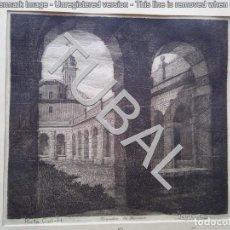 Arte: TUBAL AGUAFUERTE CADIZ PORTA COELI CLAUSTRO DE NOVICIOS 350 GRS. Lote 135793418