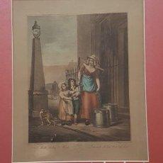 Arte: COLECCIÓN DE 12 GRABADOS, CRIES OF LONDON,1814, PLANCHAS DE LA 2 A LA 13, 68 CM X 58 CM. Lote 135855982