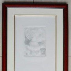 Arte: TOMAS GOMEZ MARTIN (AVILA, 1943) - GRABADO ENMARCADO CRISTAL - MEDIDAS: 47 X 37. Lote 136060294