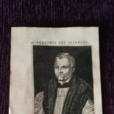 Arte: GRABADO ORIGINAL DE ANTONIO AGUSTIN ALBANELL CON BREVE BIOGRAFIA 1682. Lote 136184146