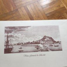 Arte: GRABADO VISTA GENERAL DE ALICANTE. Lote 136191220