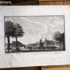 Arte: GRABADO VISTA DEL PRADO DE MADRID ISIDRO GONZALEZ VELAZQUEZ 40X63CMS. Lote 136268118