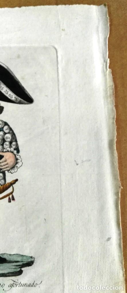 Arte: Grabado antiguo. Lotería primitiva. El enano afortunado. Filigrana del siglo XVIII. Jan Kool - Foto 3 - 136284390