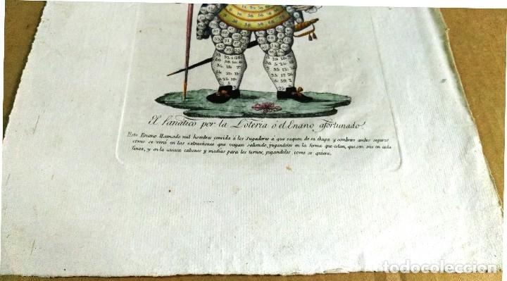 Arte: Grabado antiguo. Lotería primitiva. El enano afortunado. Filigrana del siglo XVIII. Jan Kool - Foto 4 - 136284390