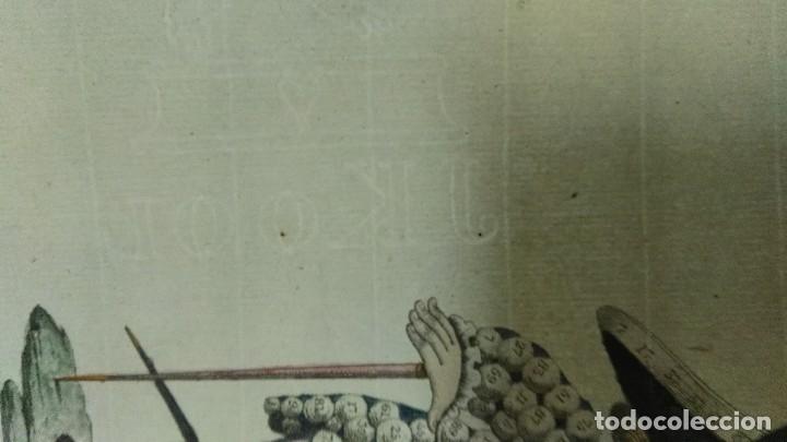 Arte: Grabado antiguo. Lotería primitiva. El enano afortunado. Filigrana del siglo XVIII. Jan Kool - Foto 6 - 136284390