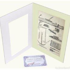 Arte: 1878 - CONSTRUCCIÓN NAVAL GRABADO ANTIGUO ORIGINAL CON PASSEPARTOUT DOBLE. Lote 136392410
