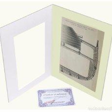 Arte: 1878 - CONSTRUCCIÓN NAVAL GRABADO ANTIGUO ORIGINAL CON PASSEPARTOUT DOBLE 2. Lote 136393106