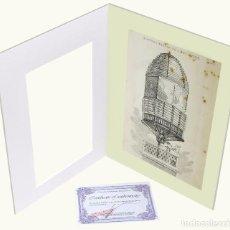 Arte: 1878 - FARO MARÍTIMO GRABADO ANTIGUO ORIGINAL CON PASSEPARTOUT DOBLE. Lote 136399302