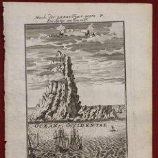 Arte: EL TEIDE EN LA ISLA DE TENERIFE (ISLAS CANARIAS, ESPAÑA), 1719. MALLET. Lote 136416766