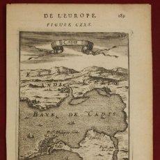 Arte: MAPA DE LA BAHIA Y PUERTO DE CADIZ (ESPAÑA), 1683, ALLAIN MANESSON MALLET. Lote 136417526