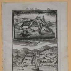 Arte: VISTAS DE LAS CIUDADES Y PUERTOS DE TÁNGER Y SALÉ (MARRUECOS, ÁFRICA). MALLET. Lote 136449602
