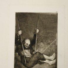Arte: CALCOGRAFIA FAC-SIMILE DE UN AGUAFUERTE DE GOYA. AÑO 1875. DIBUJADA Y GRABADA POR BARTOLOME MAURA. Lote 136450814