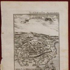 Arte: VISTA DEL PUERTO Y CIUDAD DE ALEJANDRÍA (EGIPTO, ÁFRICA), 1719. MALLET. Lote 136450910