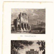 Arte: GRABADOS ROMA. FONTANONE DELL' ACQUA PAOLA Y VILLA PANFILI.. Lote 136465224