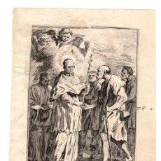 Arte: GRABADO S. LORENZO JUSTINIANO, PATRIARCA DE VENECIA. Lote 136465938