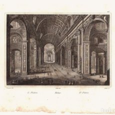 Arte: GRABADOS ROMA. S. PIETRO. S. PEDRO.. Lote 136466098