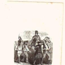 Arte: GRABADO UN RECLUTAMIENTO EN HUNGRIA. CIRCA 1850. Lote 136466258