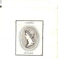 Arte: GRABADO DEL EMPERADOR ROMANO CALIGOLA. CALIGULA.. Lote 136466937