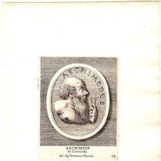 Arte: GRABADO DEL FISICO GRIEGO ARCHIMEDES. ARQUIMEDES. Lote 136467364