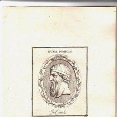 Arte: GRABADO DEL REY ROMANO NUMA POMPILIO. Lote 136467529
