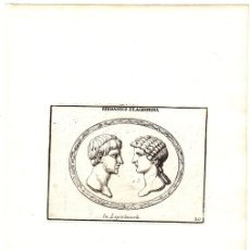 Arte: GRABADO DEL GENERAL ROMANO GERMANICO Y SU MUJER AGRIPINA. Lote 136468384