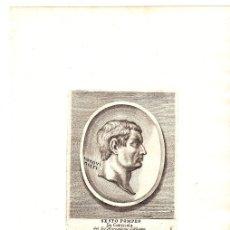 Arte: GRABADO DEL MILITAR ROMANO SESTO POMPEO. SEXTO POMPEYO. Lote 136468633