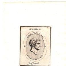 Arte: GRABADO DEL MILITAR ROMANO SESTO POMPEO. SEXTO POMPEYO. Lote 136468704