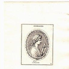 Arte: GRABADO DE LA REINA GRIEGA SEMIRAMIDE. SEMÍRAMIS. Lote 136469801
