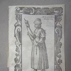 Arte: XILOGRAFÍA DE MUJER PLEBEYA DE VIZCAYA (ESPAÑA, EUROPA), 1590. VECELLIO/SESSA. Lote 136513206
