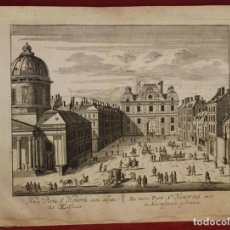 Arte: VISTA DE LA PUERTA DE SAINT HONORÉ EN PARÍS ( FRANCIA, EUROPA), 1750. TIRION. Lote 136513958