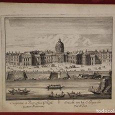 Arte: VISTA DEL COLEGIO CUATRO NACIONES DE PARÍS ( FRANCIA, EUROPA), 1750. TIRION. Lote 136514366