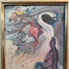 Arte: TAPIZ XILOGRAFICO ORIGINAL AÑOS 70-80 ...DALI-- TEXTIL-GRABADO TELA-LITOGRAFIA. Lote 136516462
