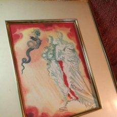 Arte: TAPIZ XILOGRAFICO ORIGINAL AÑOS 70-80 ...DALI-- TEXTIL-GRABADO TELA-LITOGRAFIA. Lote 136517662