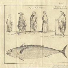 Arte: ESPAÑOLES DE MONTEVIDEO (URUGUAY, AMÉRICA DEL SUR) Y ATÚN, 1772. BELLIN / PREVOST. Lote 136517814