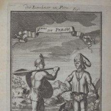 Arte: INDÍGENAS ARMADOS DEL ANTIGUO PERÚ (AMÉRICA DEL SUR), 1680. MALLET. Lote 136638066