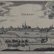 Arte: VISTA DE LA CIUDAD DE ORLEANS (LOIRA, FRANCIA, EUROPA), 1660. ANÓNIMO. Lote 136640242