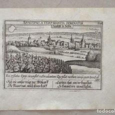 Arte: ANTIGUA VISTA DE LA CIUDAD DE NEUSTADT (ALEMANIA), 1630. MEISNER. Lote 136640710