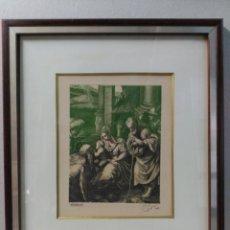 Arte: GRABADO SOBRE PAPEL CASTRO GIL, ADORACION. Lote 136742006