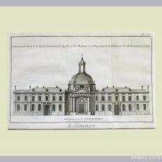 Arte: 1779 ARQUITECTURA - DIDEROT - GRABADO CON PASSEPARTOUT DOBLE 2 - GRAN TAMAÑO. Lote 136793146