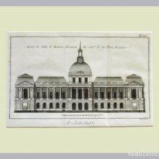 Arte: 1779 ARQUITECTURA - DIDEROT - GRABADO CON PASSEPARTOUT DOBLE 3 - GRAN TAMAÑO. Lote 136793906