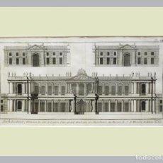 Arte: 1779 ARQUITECTURA - DIDEROT - GRABADO CON PASSEPARTOUT DOBLE 7 - GRAN TAMAÑO. Lote 136795682