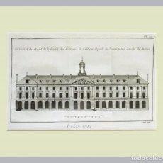 Arte: 1779 ARQUITECTURA - DIDEROT - GRABADO CON PASSEPARTOUT DOBLE 4 - GRAN TAMAÑO. Lote 136805542