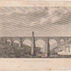 Arte: GRABADO FAMOSO PUENTE DE ALCANTARA MONUMENTO ROMANO - -DOC-1. Lote 137126110